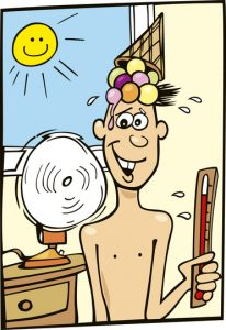 Boy hot weather