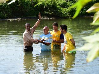 Baptism, water
